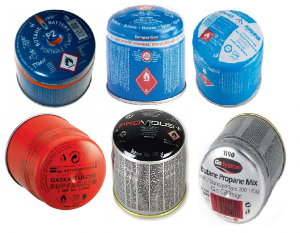 pierceable / puncture-type gas canisters